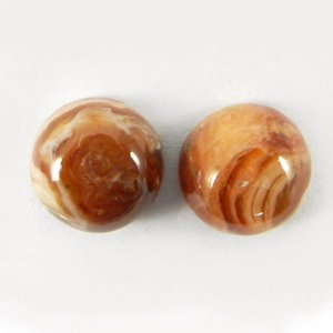Honey Opal 10mm Round 1 Pair Cabochon 7.3 Cts