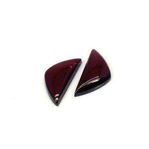 Hyderbadi Garnet 13x6mm Fancy Cabochon 5 Cts 1 Pair Loose Gemstone