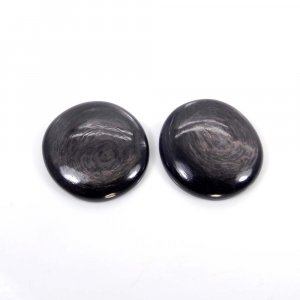 Hypersthene 29x27mm Round Cabochon 41.10 Cts