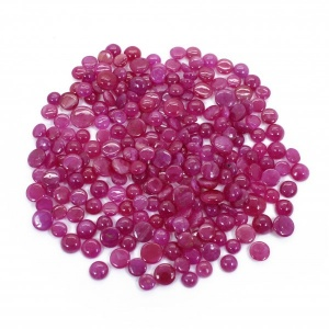 Natural Johnson Ruby 5mm-7mm Round Cabochon 231.50 Cts ( 46.30Gram )
