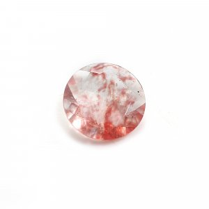 Cherry Crackle Glass 18mm Round Cut 10.30 Cts