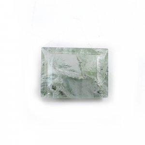 Aqua Crackle Glass 16x12mm Rectangle Cut 8.25 Cts