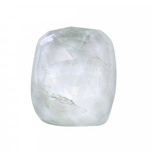 Aqua Crackle Glass 20x15mm Rectangle Cushion Rose Cut 13.55 Cts
