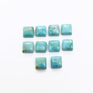 10 Pcs Natural American Turquoise 6x6mm Square Cabochon 14.00 Cts