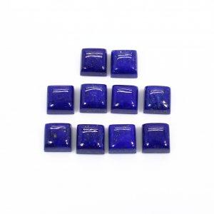 10 Pcs Natural Lapis Lazuli 6x6mm Square Cabochon 17.00 Cts