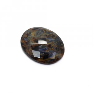 Natural Pietersite 26x21mm Oval Checker Cut 21.30 Cts