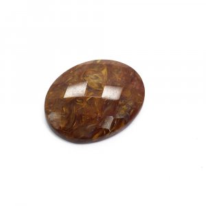 Natural Pietersite 25x20mm Oval Checker Cut 18.90 Cts