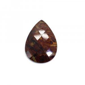 Natural Pietersite 29x20mm Pear Checker Cut 14.20 Cts
