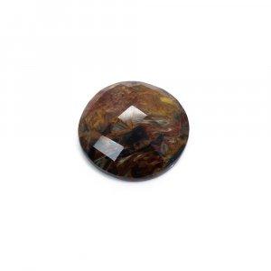 Natural Pietersite 21mm Round Checker Cut 16.25 Cts