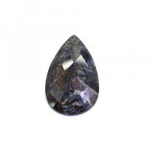Natural Pietersite 34x20 Pear Checker Cut 22.90 Cts