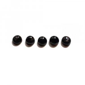 5 Pcs Natural Black Star 5mm Round Cabochon 3.80 Cts