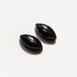 2 Pcs Natural Black Star 12x6mm Marquise Cabochon 5.95 Cts