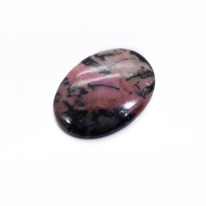Natural Rhodonite 31x21mm Oval Cabochon 39.55 Cts