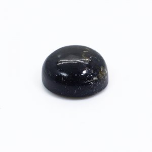 Natural Black Agate 10mm Round Cabochon 4.65 Cts