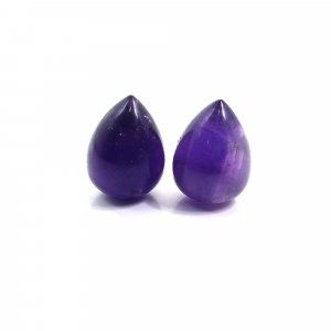 1 Pairs Natural African Amethyst 20x14mm Drop Smooth 57.50 Cts