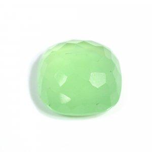 Natural Apple Green Chalcedony 22x22m Cushion Football Cut 34.40 Cts