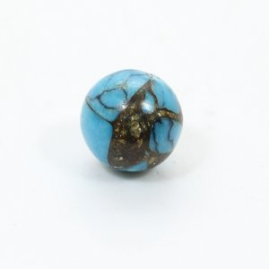 Natural Moahave Turquoise 8mm Ball Cabochon 3.35 Cts