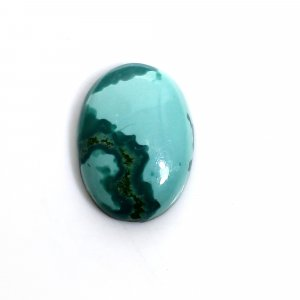 Tibetan Turquoise 14x10mm Oval Cabochon 4.50 Cts