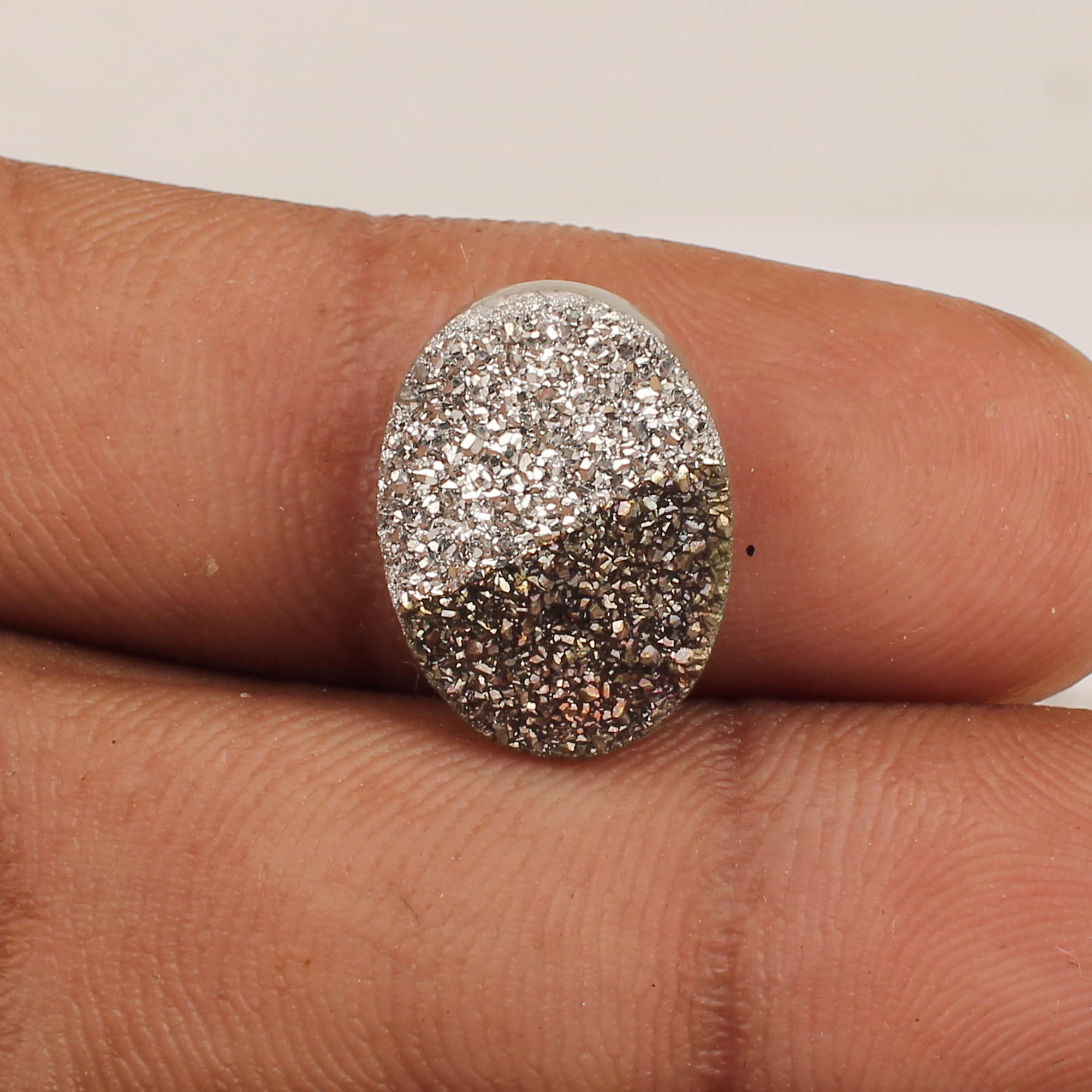 Bio Color Coated Druzy 16x12mm Oval 6.45 Cts