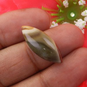 Imperial Jasper 24x9mm Marquise Cabochon 9.60 Cts