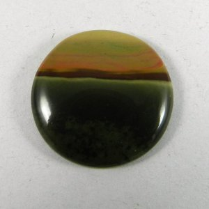 Imperial Jasper 25mm Round Cabochon 22.5 Cts