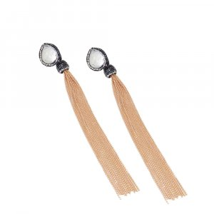 Indian Factory Direct Wholesale Long Line Gold Plated Earring