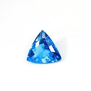 Ink Blue Hydro 33.10 Cts Trillion Checker Cut 24x24mm Loose Gemstone