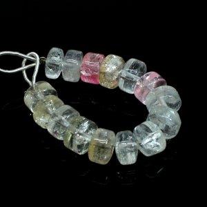 Kunzite Roundel Gemstone Beads Smooth Plain 3.5 Inch 63.35 Cts 9x6mm