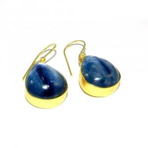 Kyanite 18k Gold plated Bezel Earring