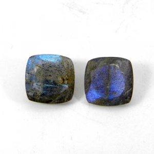 Labradorite 10x10mm Cushion Faceted Cut 4.05 Cts