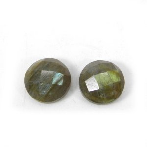 Labradorite 10x10mm Round Checker Cut 3.50 Cts