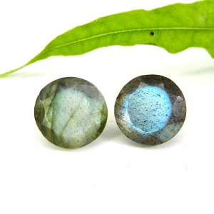 Labradorite 10x10mm Round Faceted Cut 3.70 Cts