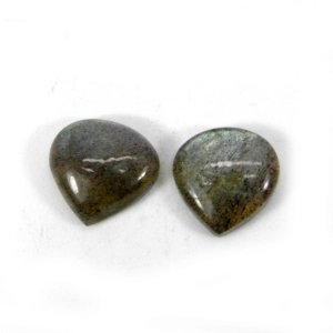 Labradorite 11x11mm Heart Cabochon 4.30 Cts