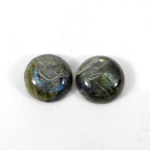 Labradorite 11x11mm Round Cabochon 4.45 Cts