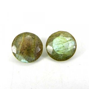 Labradorite 11x11mm Round Faceted Cut 4.15 Cts