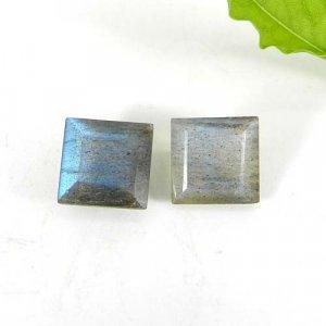 Labradorite 11x11mm Square Baguette Cut 6.20 Cts