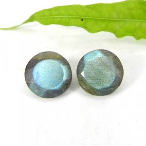 Labradorite 12x12mm Round Faceted Cut 5.10 Cts