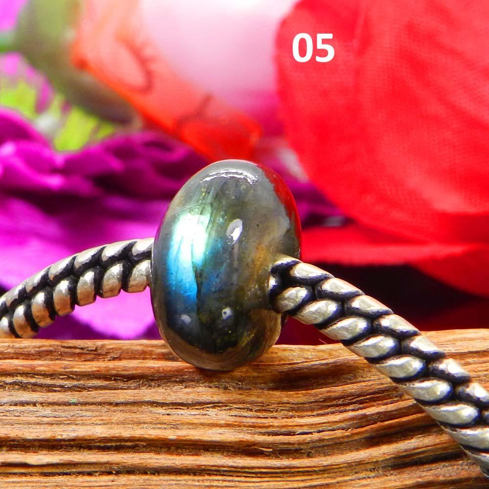 Labradorite 14x8x5mm Roundel Smooth Beads