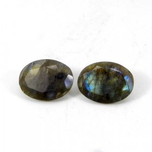 Labradorite 16x12mm Oval Faceted Cut 7.45 Cts