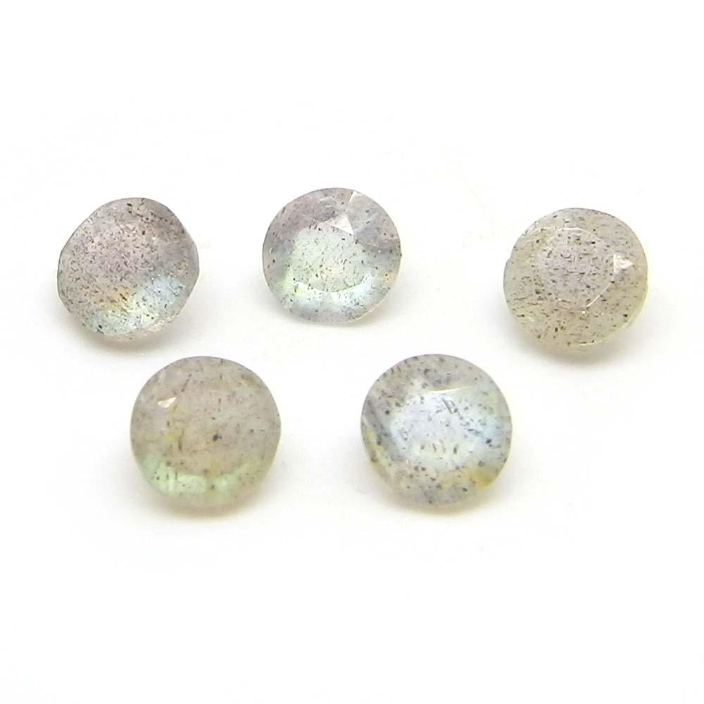 Labradorite 4mm Round Cut 0.26 Cts