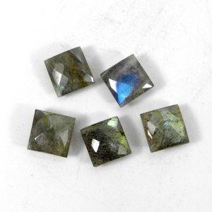 Labradorite 8x8mm Square Briolette Cut 2.45 Cts