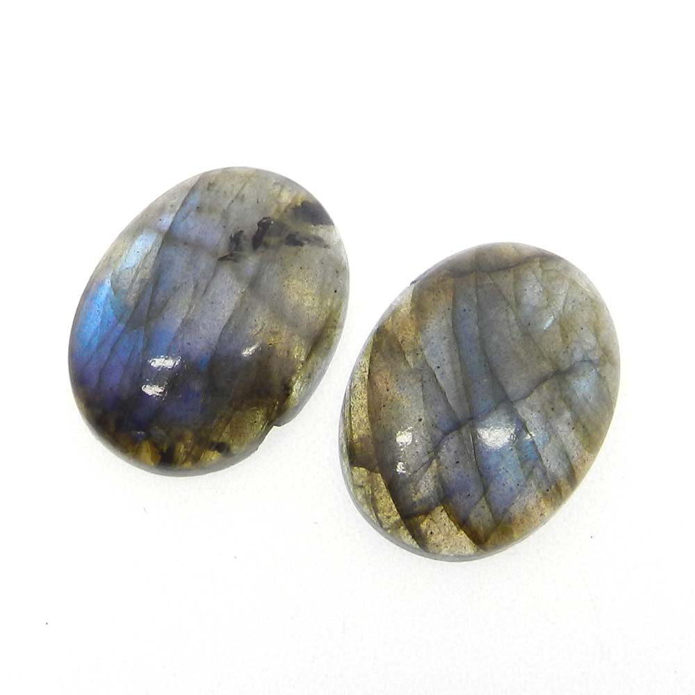 Labradorite With Blue Fire 21x15mm Oval Cabochon 15 Cts