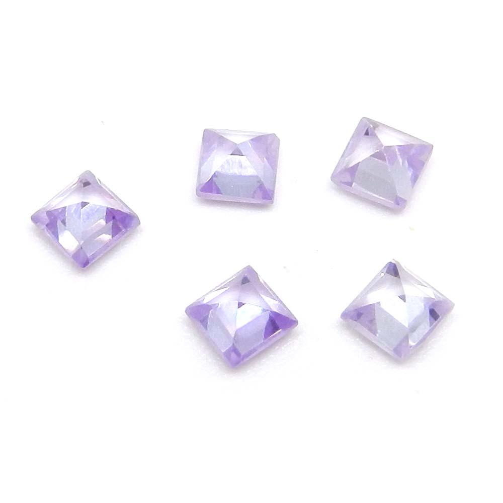 Lavender C.Z 4x4mm Square Cut 0.75 Cts