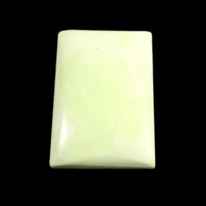 Lemon Chrysoprase 25x17mm Rectangle Cabochon 22.5 Cts