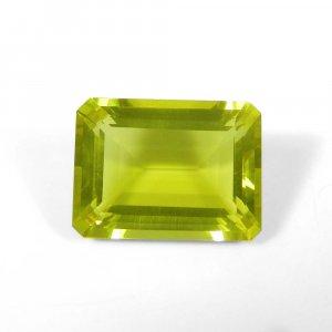 Lemon Green Gold 18x14mm Octagon Baguette Cut 14.35 Cts