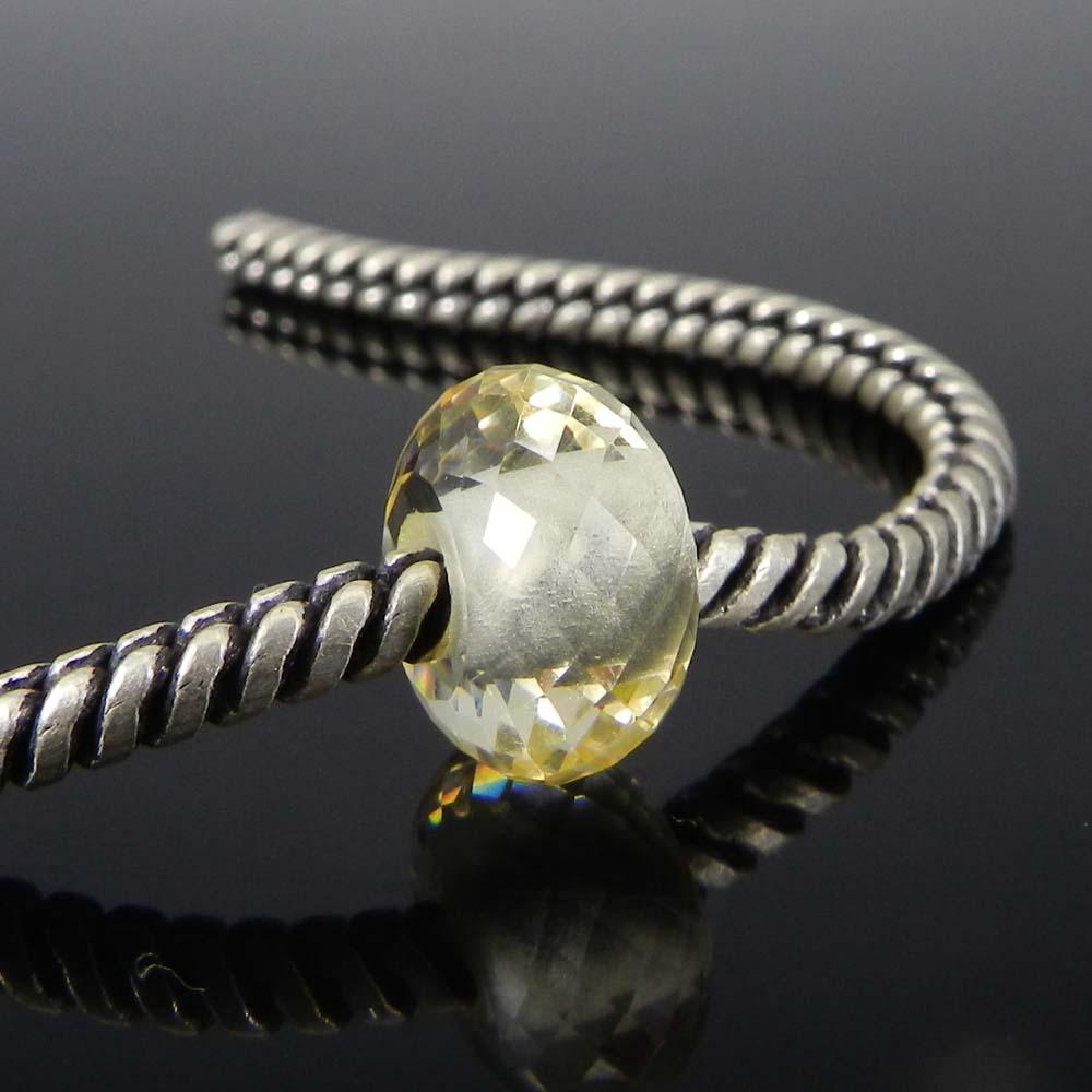 Lemon Hydro 14x8x4.5mm Roundel Facet Beads