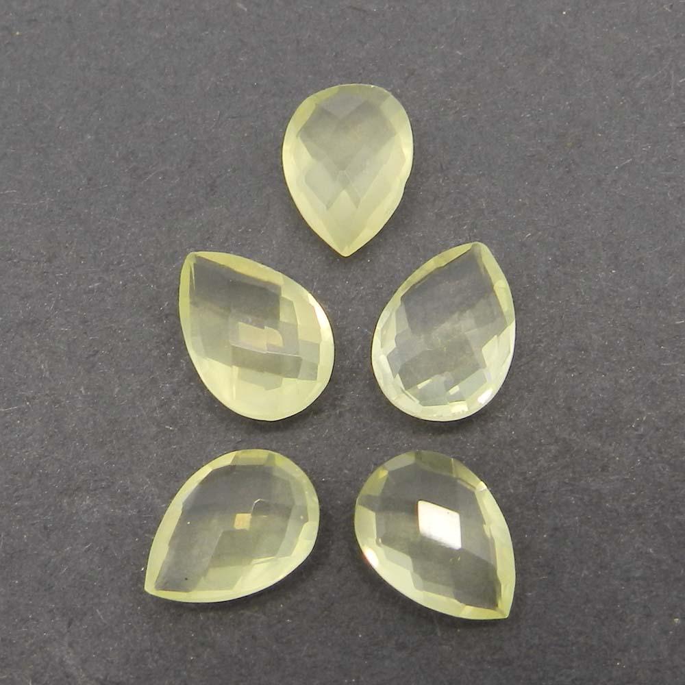 Lemon Quartz 10x7mm Pear Briolette Cut 1.6 Cts