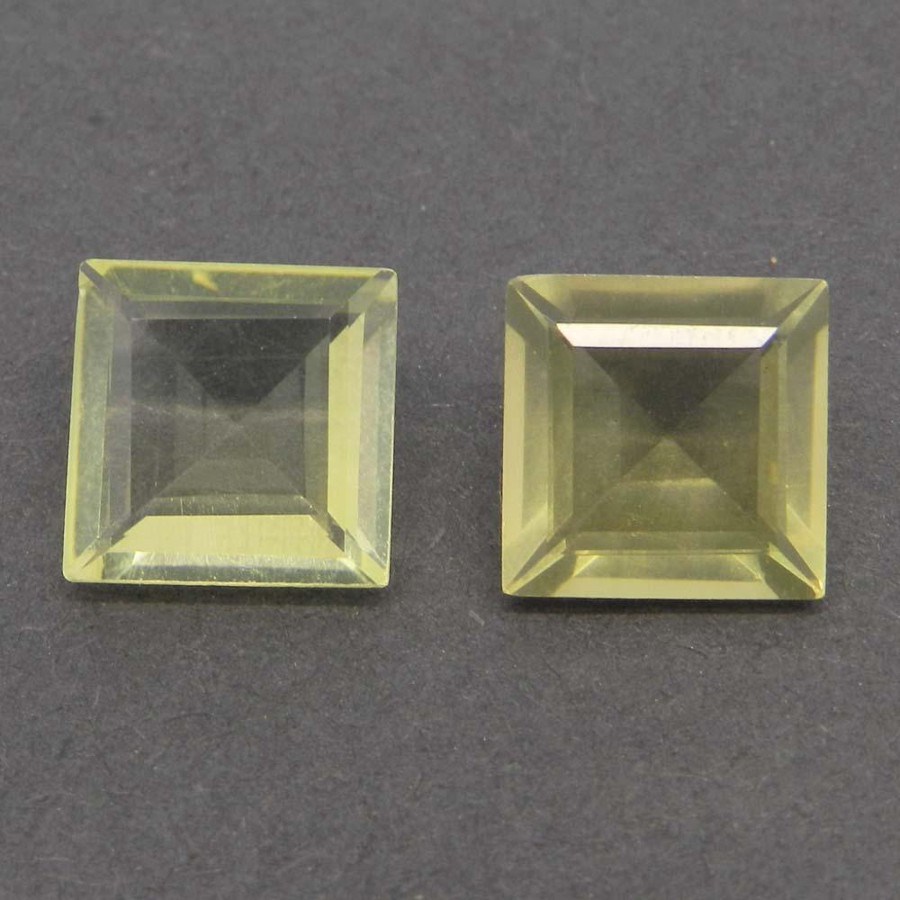 Lemon Quartz 11x11mm Square Cut 4.9 Cts