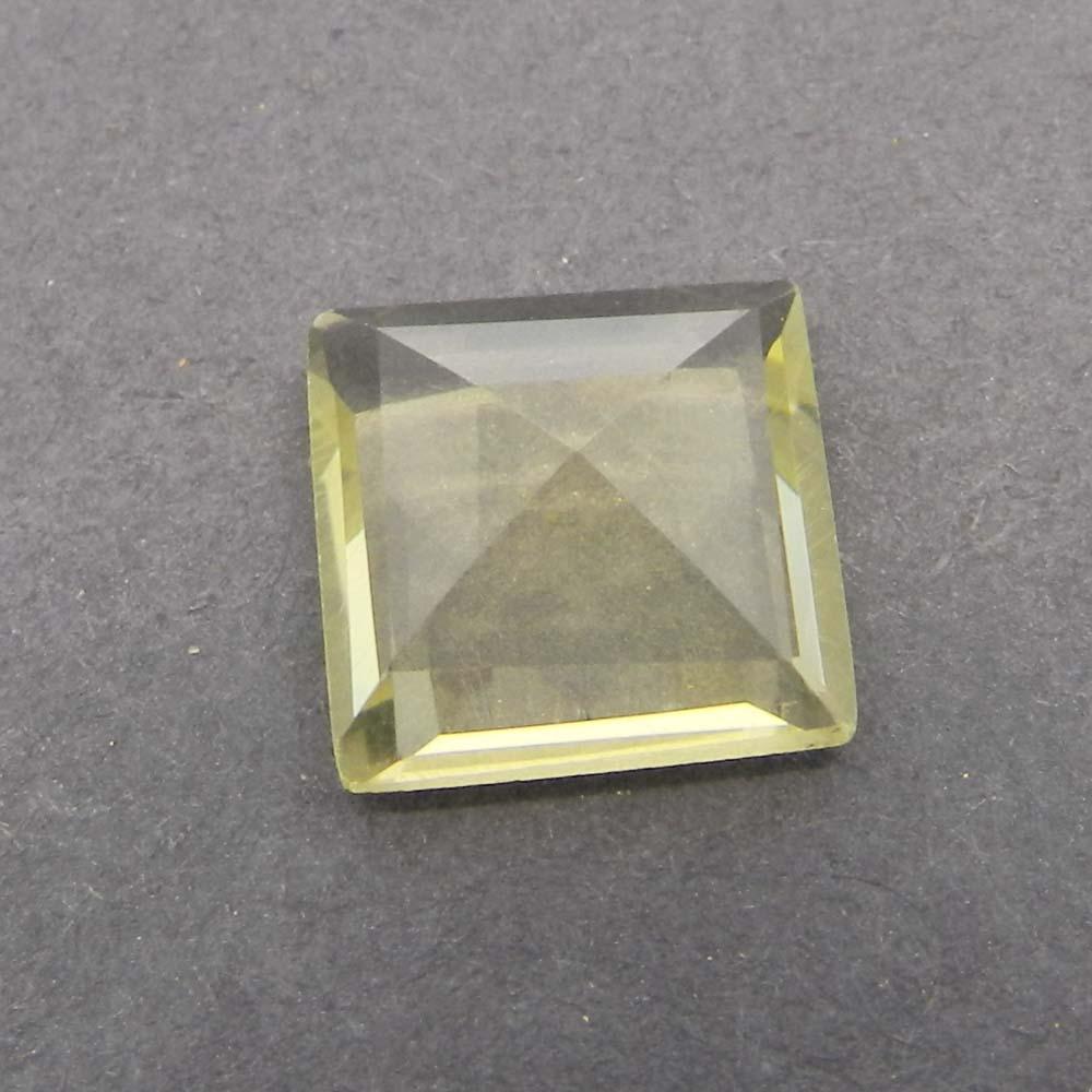 Lemon Quartz 13x13mm Square Cut 8.4 Cts