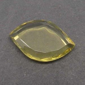 Lemon Quartz 20x13mm Marquise tablet Cut 7.3 Cts